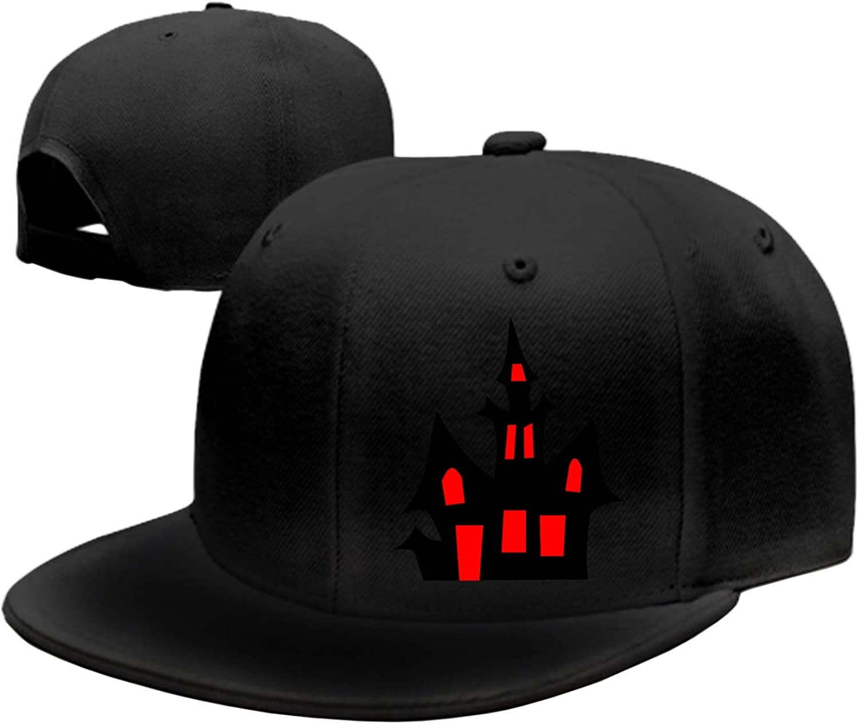 Customized Unisex Trucker Baseball Cap Adjustable Halloween Background Peaked Sandwich Hat