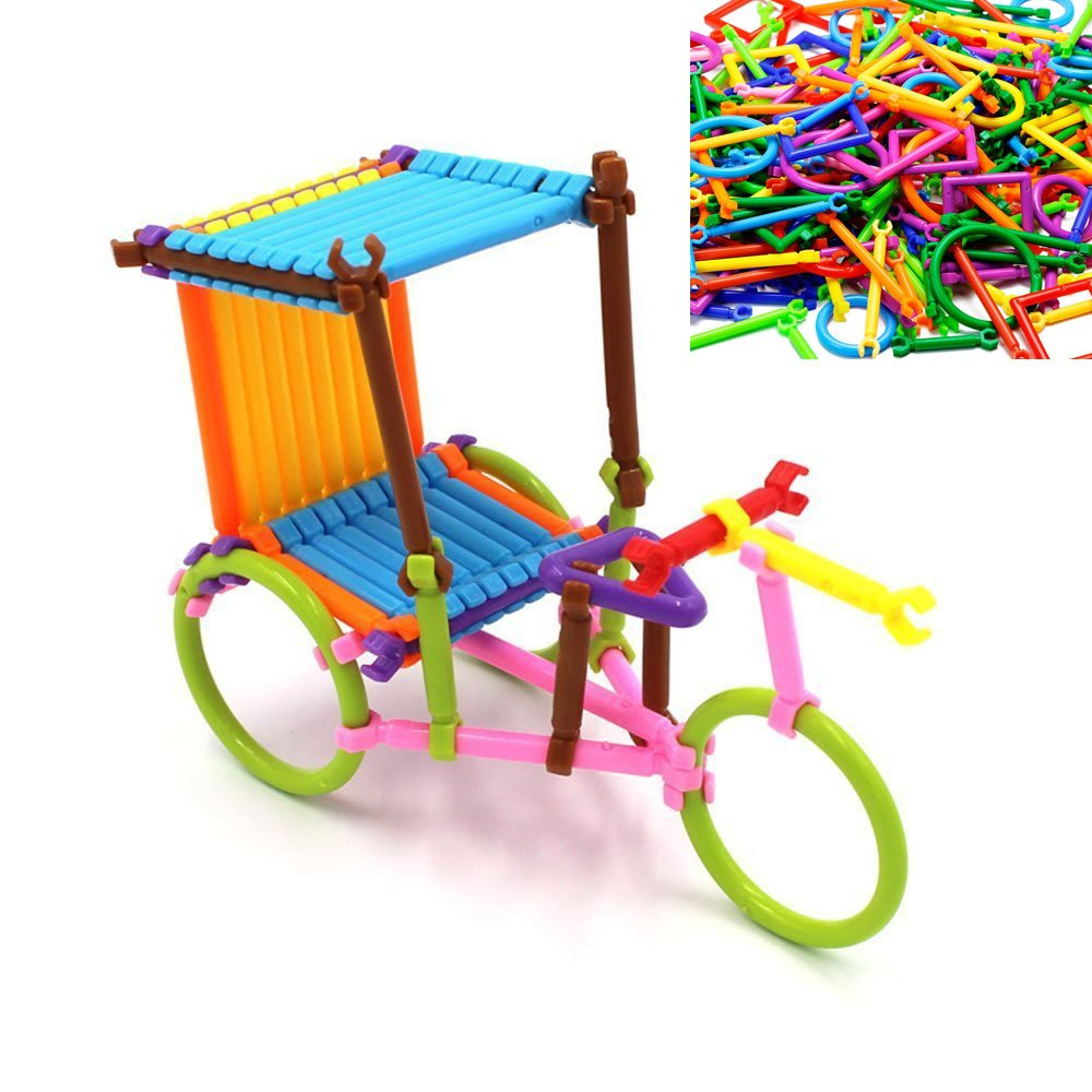 ArRord 205Pcs Bars Multiple Colors Shape Creative Toys Building Blocks 3D Puzzle For Child Boy Girl Gift