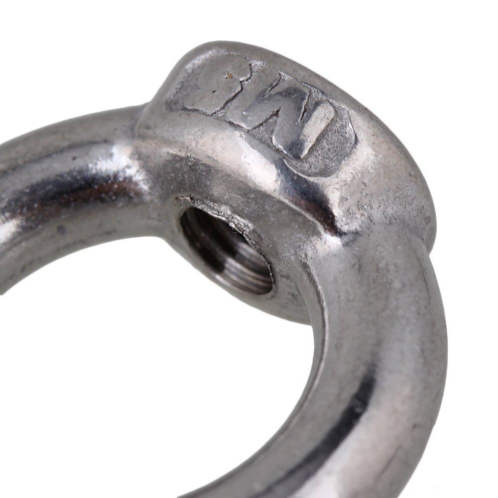 Silber M5 European Style 304 Edelstahl Lifting Eyes Muttern Ringform Augengewindemuttern 2er Pack