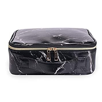 b7950cfab3cb Amazon.com : Travel Makeup Train Case with Adjustable Dividers ...