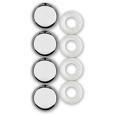 Cruiser Accessories 82630 License Plate Frame Fastener Caps, Chrome: Automotive