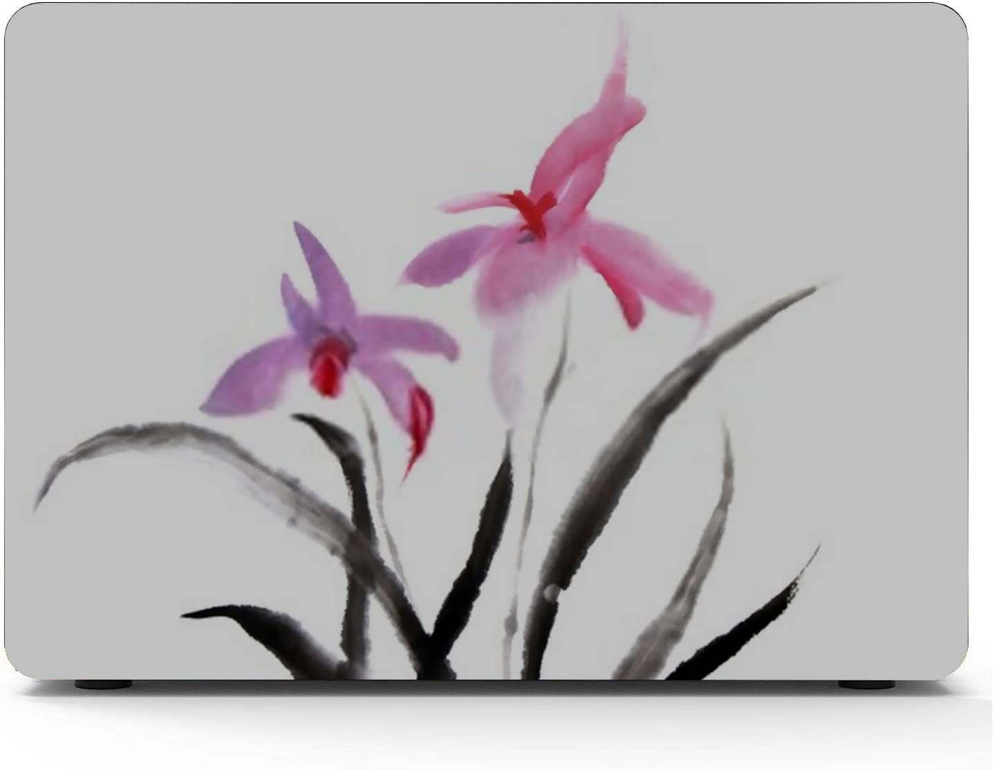 MacBook Pro Case Chinese Painting Orchid Flower On White MacBook Air 11 //A1370//A1465 Plastic Case Keyboard Cover /& Screen Protector /& Keyboard Clean