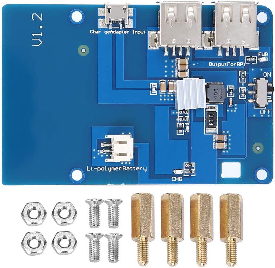 Passend f/ür Raspberry Pi 3 USV-Lipo-Batterie-Erweiterungskarte mit Unabh/ängigem Feldnetzteil und Doppeltem USB-Ausgang Raspberry Pi 3-Netzteil-Erweiterungskarte