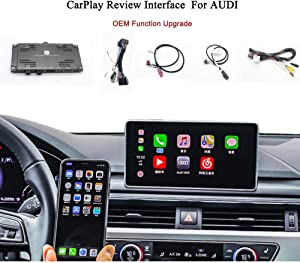 2020 New Upgrade Used to Factory Screen WiFi CarPlay Video Interface Module for Audi A1 A3 A5 A6 A7 B8 B9 C6 C7 Q3 Q5 Q7 MIB/MMI3G Compatible with Apple Wireless CarPlay Box Waze Google Map
