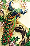 ZHENC Double Peacock Flower Tree Animals 5D DIY Full Square Diamond Painting Embroidery Full Drill Craft Decor Cross Stitch Kits