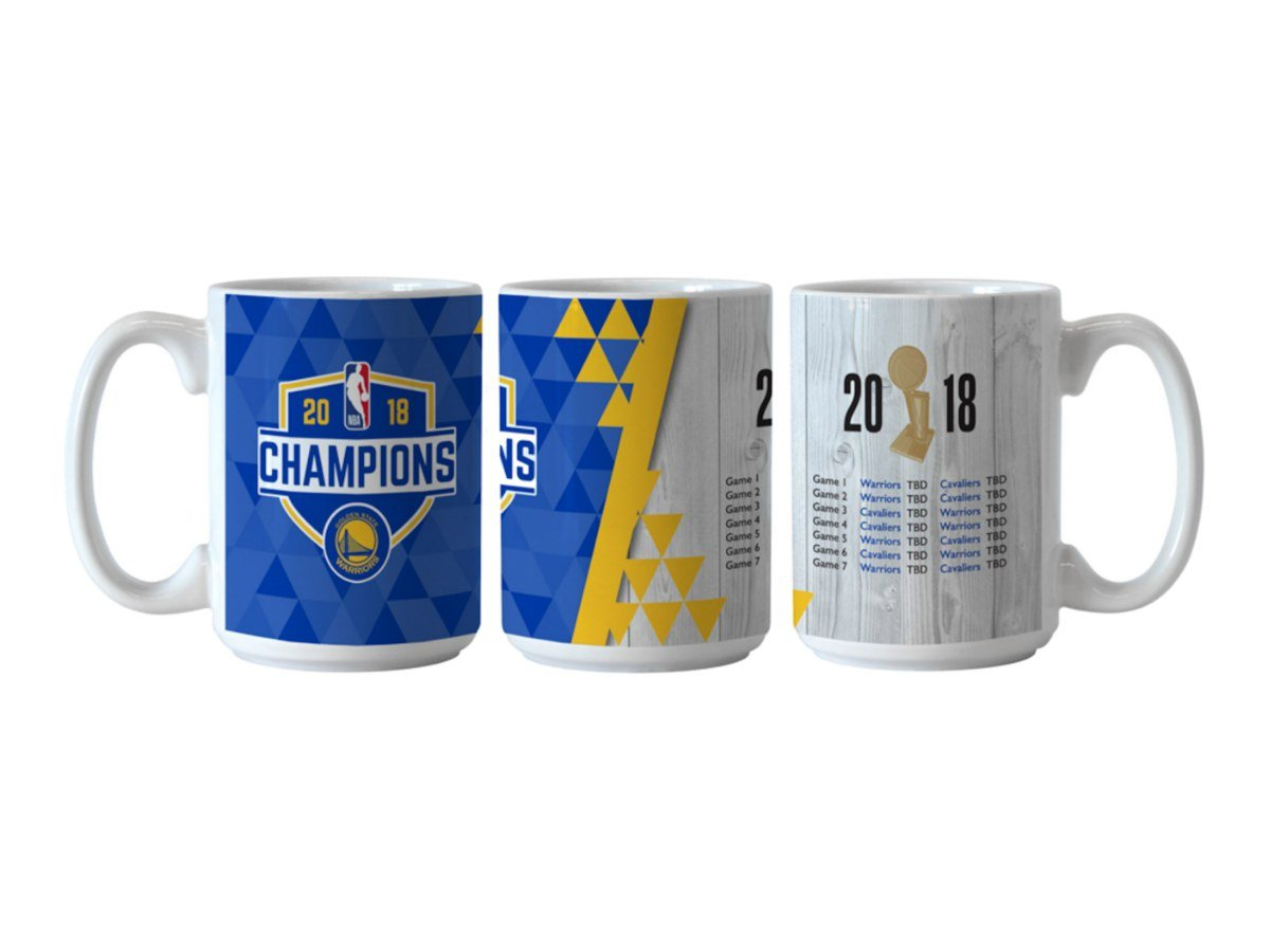 Golden State Warriors 2018 NBA Champions Boelter Ceramic Game Scores Coffee Mug