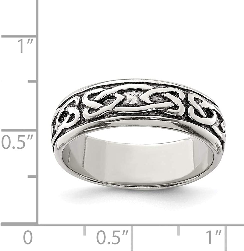 FB Jewels Solid Sterling Silver Design Ring