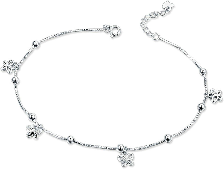 Yienate Bracelet de cheville simple en alliage argent/é avec pendentif /él/éphant pour femme et fille