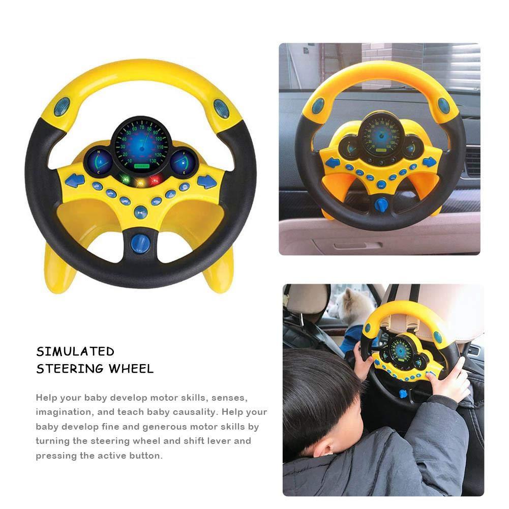 Volante di simulazione dei bambini giocattolo del suono di puzzle di istruzione iniziale del volante di simulazione del copilota