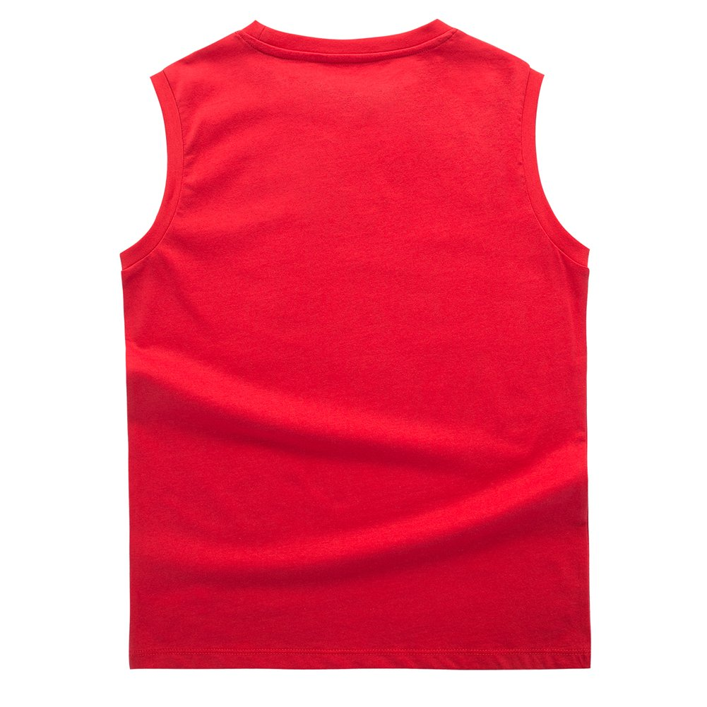 UNACOO Boys 2-Pack 100/% Cotton Active Tank Top Solid Color and Print-Front