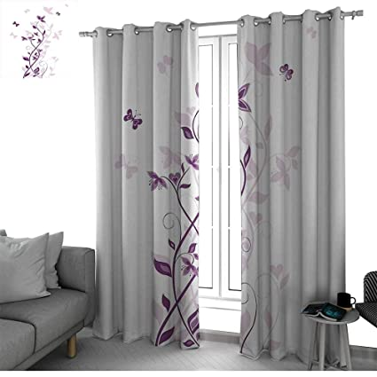 Amazon.com: bybyhome Purple Curtains for Bedroom/Living Room ...