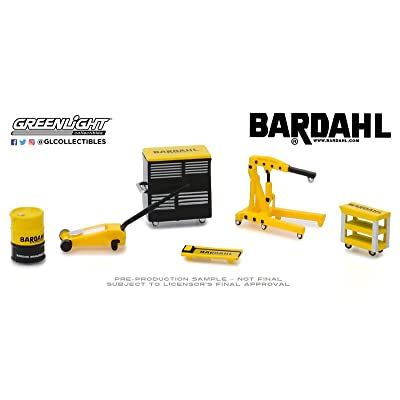 Greenlight 1:64 Auto Body Shop - Shop Tool Accessories Series 1 - Bardahl 16020-A: Toys & Games