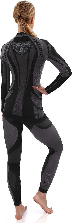 Sesto Senso/® Conjunto T/érmico Hombre Ropa Interior T/érmica de Manga Larga Camisa y Calzoncillos Largos Pantalones Leggins Termo Activo Set