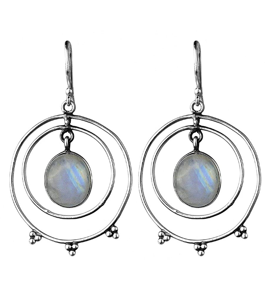 DV Jewels Rainbow moonstone gemstone dangle earrings