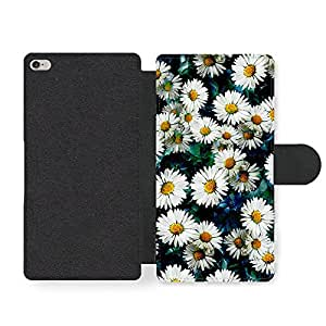 Daisy Flowers In A Cool Hispter Style Pattern Faux Leather case for iPhone 6 Plus 6S Plus