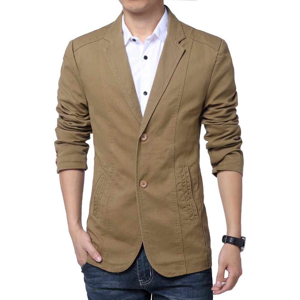 YiLianDa Uomo Slim Fit Uomo Casual Elegante Vestito di Affari Cappotto Giacca Blazers Top Outwear