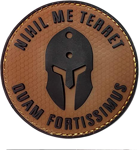 Morton Home Parches de goma 3D con diseño de Nihil Me Terret de PVC, parches de combate táctico con emblema de ejército espartano: Amazon.es: Juguetes y juegos