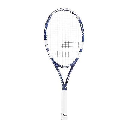 Babolat Pulsion 105 Strung Raqueta de Tenis, Unisex Adulto, Azul/Gris/Blanco