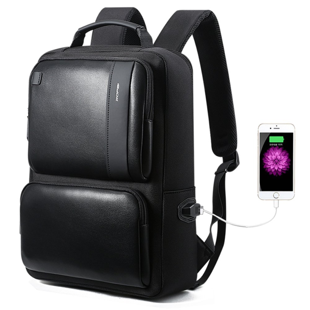 Bopai Business Backpack 15 inch Laptop Bag USB Charging Port and Anti-Theft Computer Rucksack