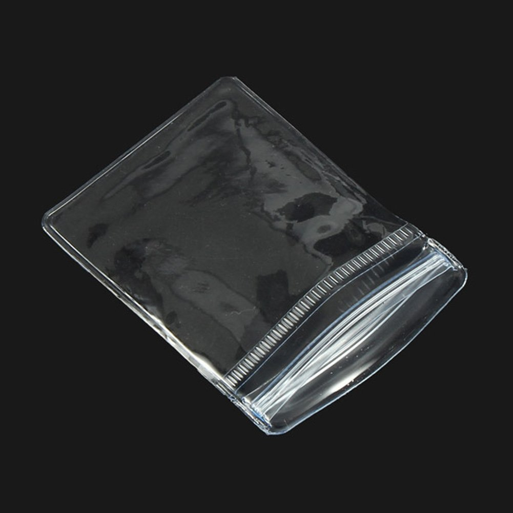 100 Pcs Transparen OPP Jewelry Bags Resealable Zip Lock Storage Bag Grip Seal Package Bag For Necklace Bracelet Rings Earrings 9X13cm