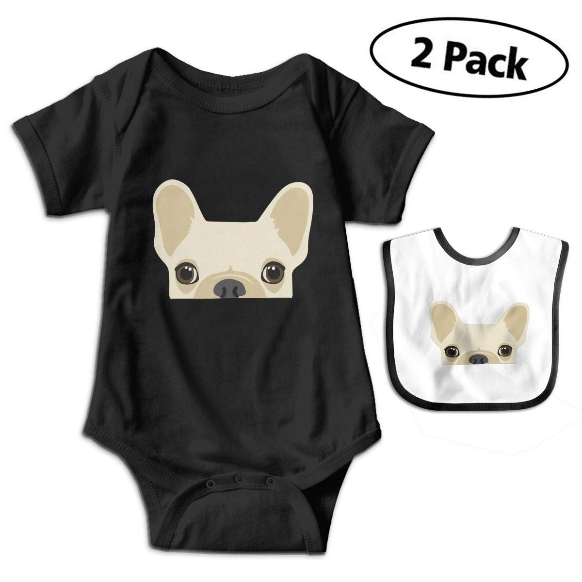 Mostico Nachill Funny French Bulldog Print Baby Boys Girls 100/% Cotton Short Sleeve Romper