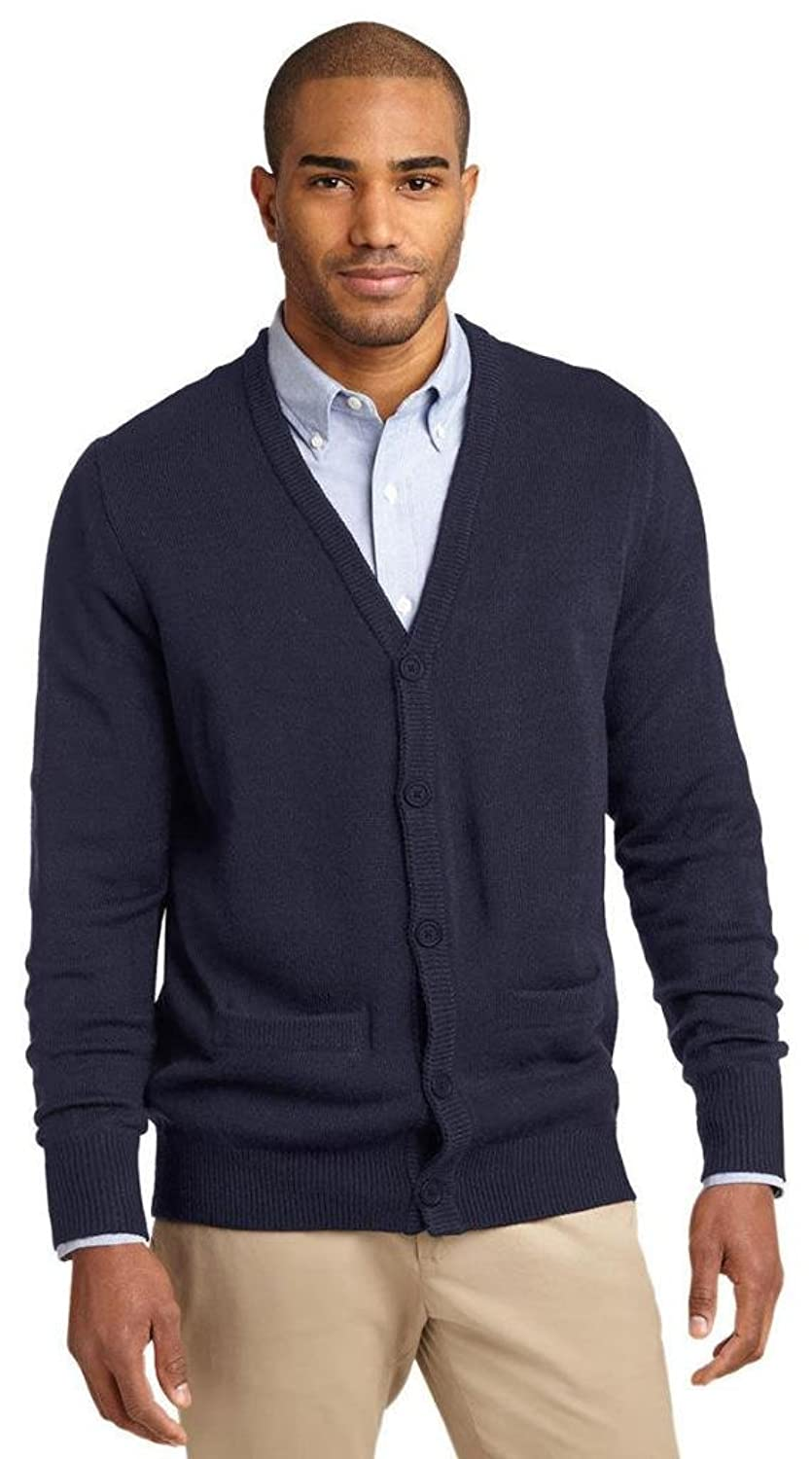 Port Authority Men's V-Neck Cardigan with Pockets
