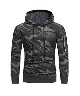 ZYUEER Hoodie Pull Sweat À Capuche pour Hommes GarçOns Pullover Sweat-Shirt Chemisier Modern Et Casual Manteau Blouson (Camouflage, L)