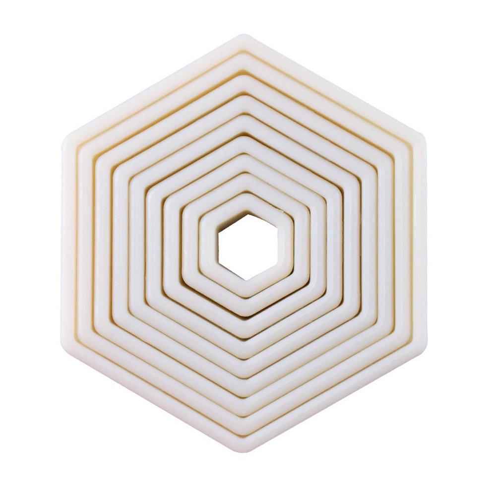 9-Piece Hexagon Nylon Cookie Cutter Set (Hexagon) QELEG