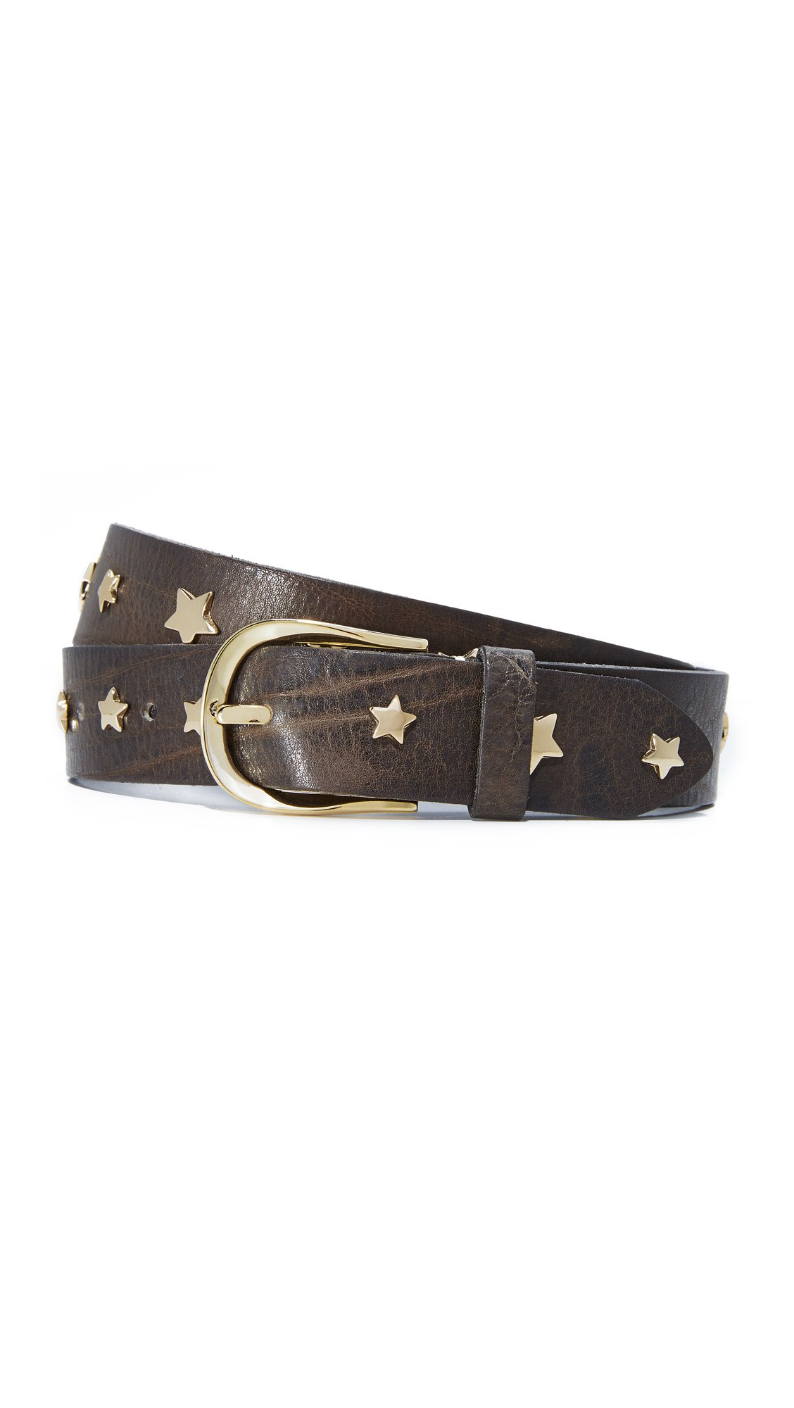 B. Belt Women's Star Studded Belt, Charcoal, Large by B. Belt