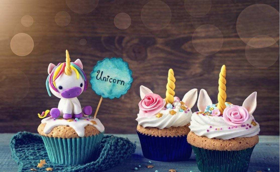 Set of 3 Mini Unicorn Mold Unicorn Horn Ears Flower and Rainbow Cupcake Topper Fondant Chocolate Mold
