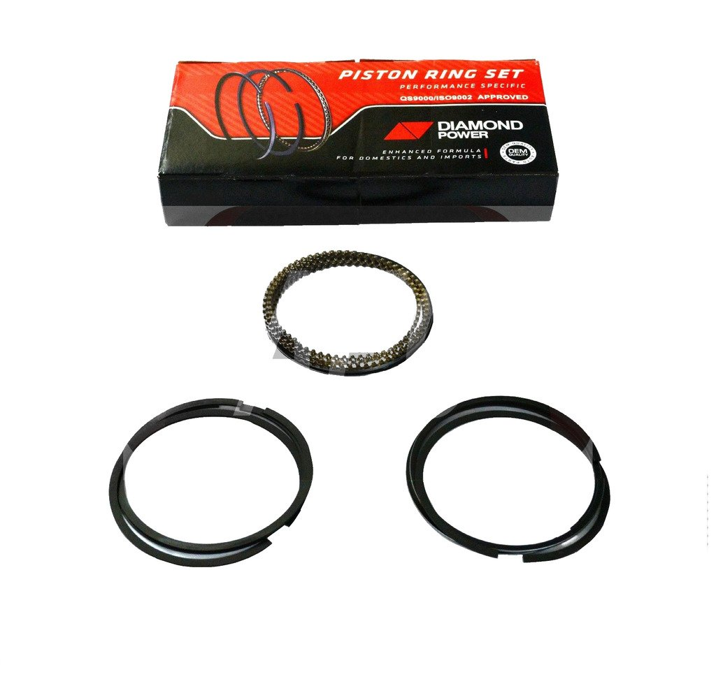 Diamond Power Piston Rings Set works with Ford Fiesta Ka Courier 1.6L 1596CC 97Cu. In. l4 GAS SOHC 2001-2006
