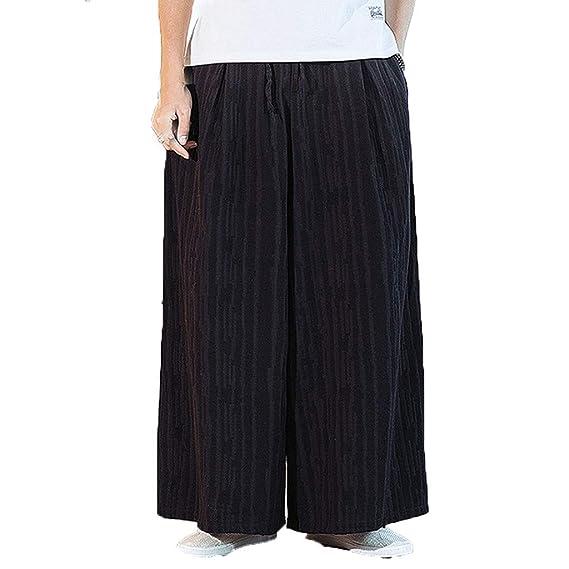 VPASS Pantalones Hombre Suelto Tallas Grandes Comodo Casuales ...