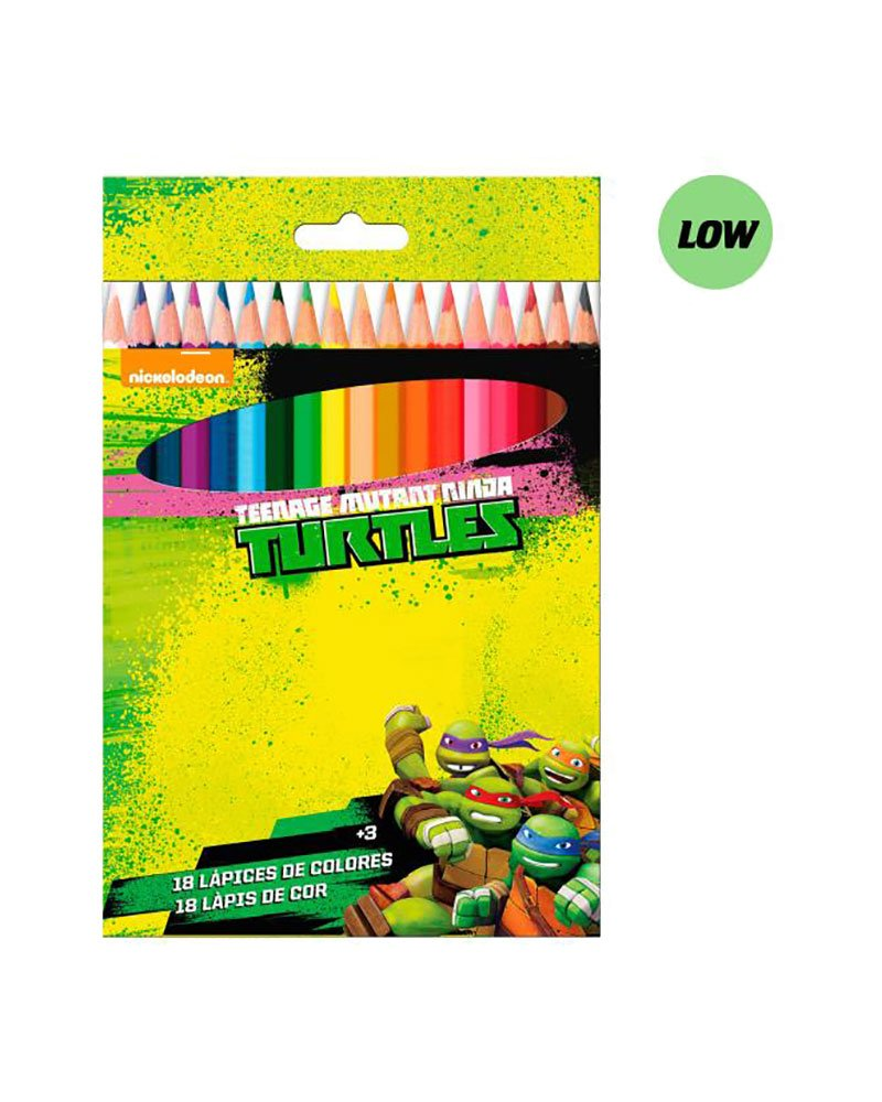 Tortugas Ninja Caja de 18 lapices de Colores: Amazon.es ...