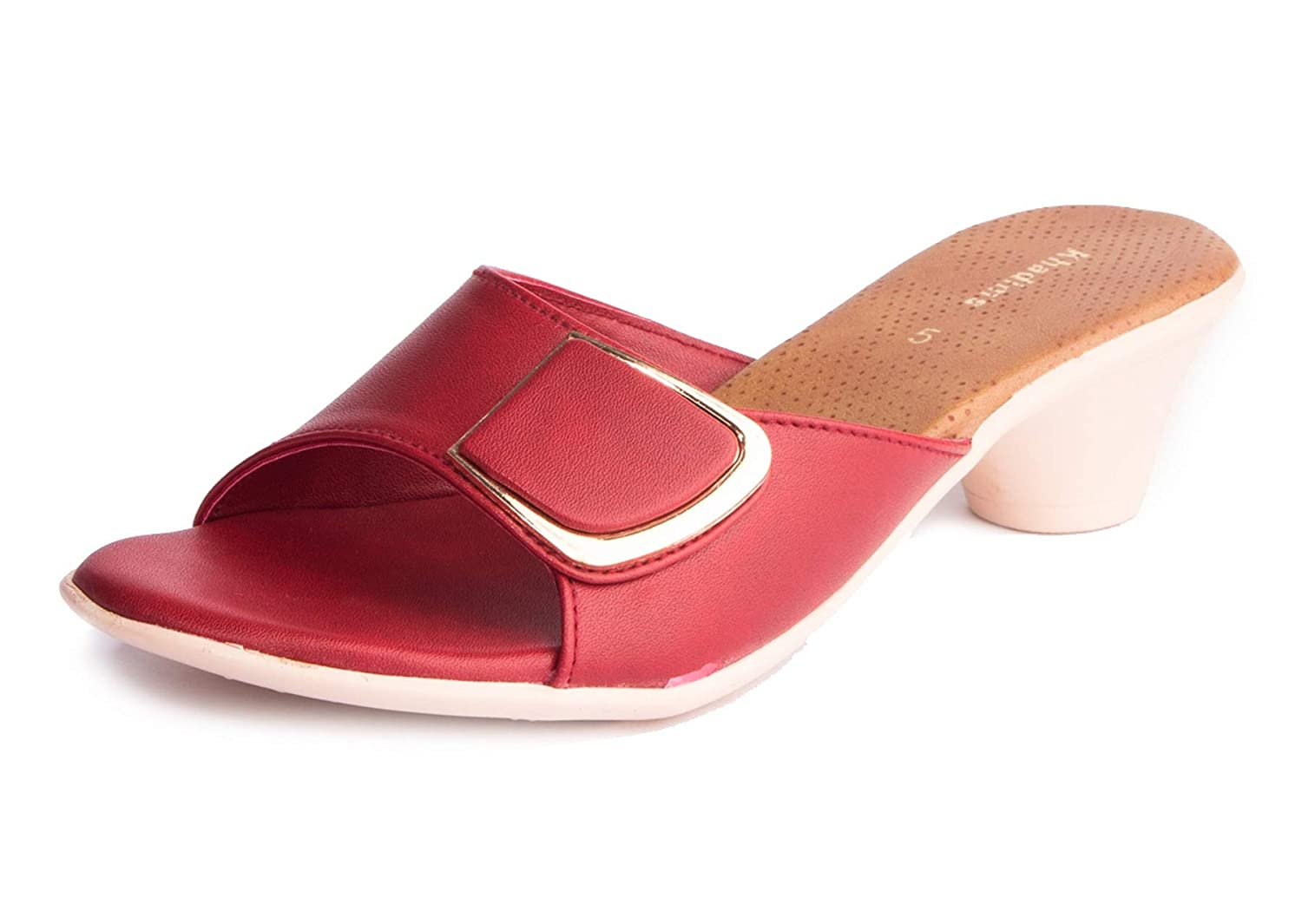 get online 2018 shoes united kingdom Buy Khadim's Women's Red Synthetic Casual Mule Sandals (4) at ...