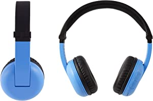 BuddyPhones PlayTime - Nuove cuffie Bluetooth Made for Amazon, per bambini da 3 a 7 anni, blu