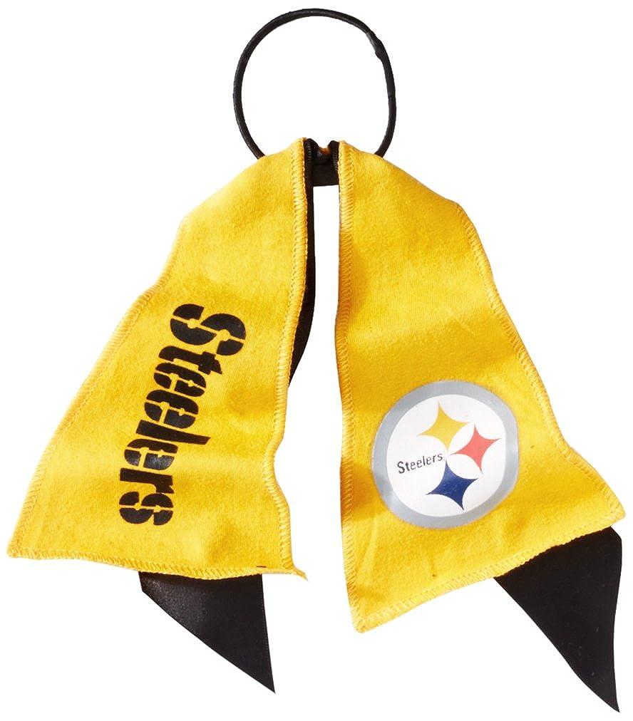 NFL Pittsburgh Steelers Ponytail Holder Black Littlearth 300402-STLR-BLACK