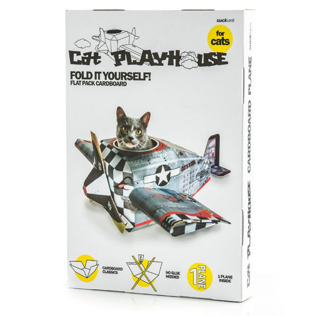 Suck UK Cat Play House Plane Amazoncouk Kitchen Home - This company makes cardboard tanks houses and planes for cats and theyre perfect
