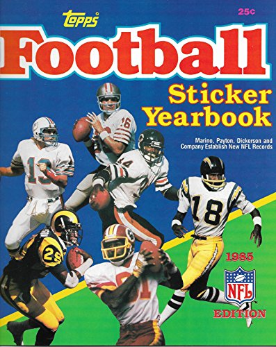 (1985 Topps Football Stickers Complete Set In Sheets With Unused Book Empty Box And 7 Packs)