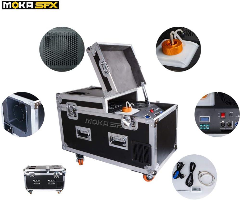 Máquina de niebla baja de 2000 W con mando a distancia inalámbrico DMX, base de agua, máquina de efecto de escenario para bodas