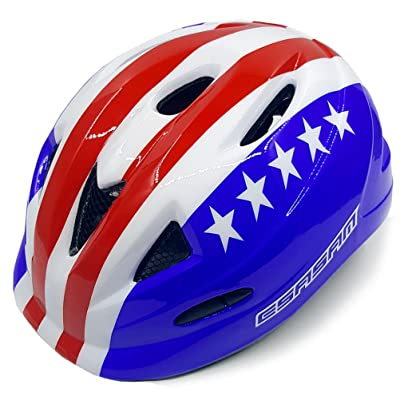 Toddler's Bike Helmet for Kids – Adjustable from Toddler to Child Size – Durable Kid Multi-Sport Cycling Skating Scooter Helmets with Fun Aesthetic Design Boys and Girls will LOVE (Statue of Liberty) : Sports & Outdoors