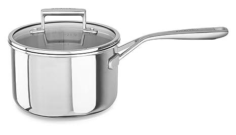 Amazon.com: KitchenAid kc2t30plst Tri-Ply 3.0 Quart Cazo con ...