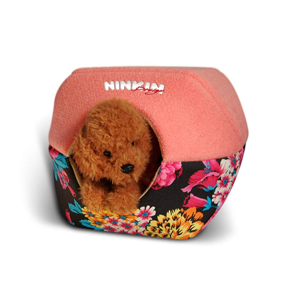 554545cm Fashion Burger Pet Nest Multi-Function Dog Bed Cat Hole Breathable Windproof Dustproof Washable (Size   55  45  45cm)