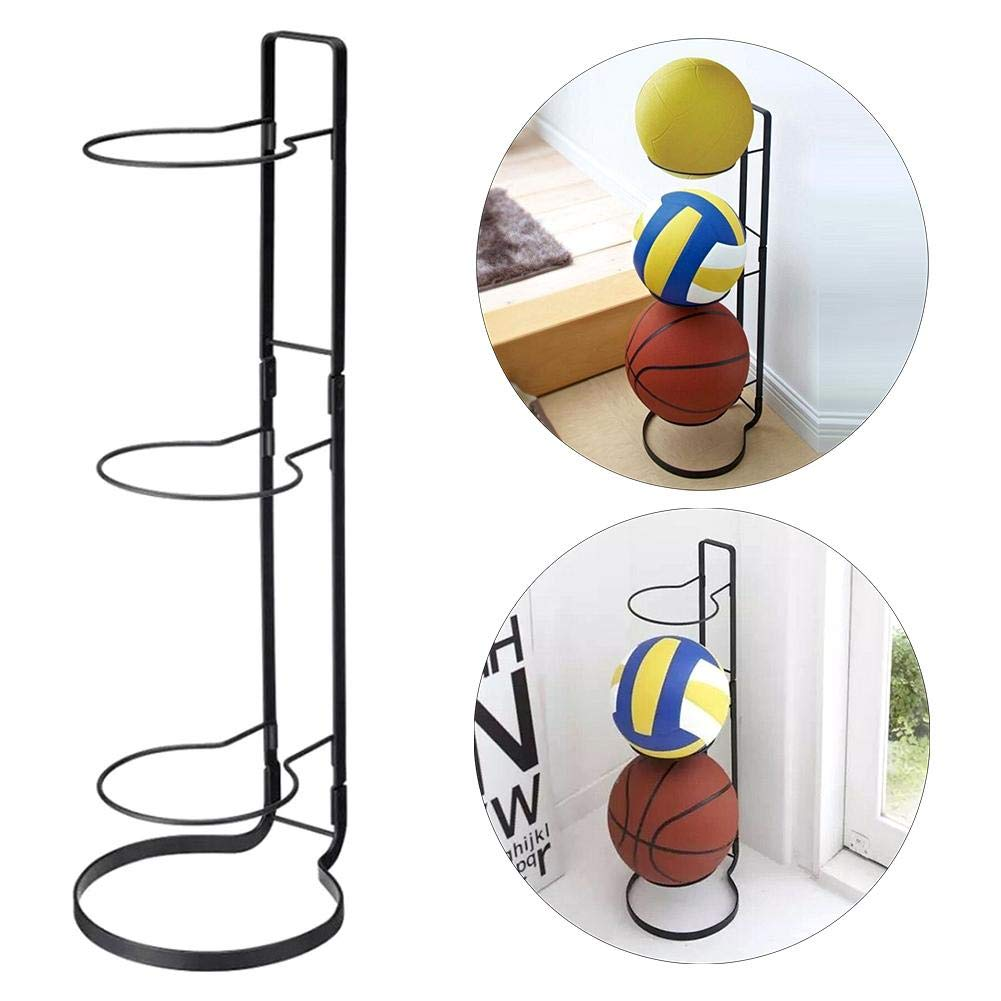 Basketball Rack Vertical Ball Storage Rack Ball Holder 3 Stack Master Basketball Wall Storage Rack Black 20.525.565cm