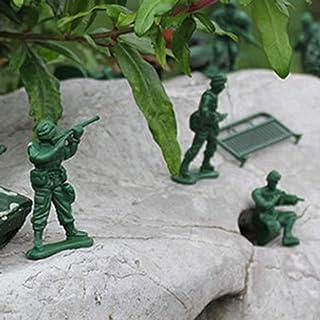 JohnJohnsen 90 PZ Modello di Plastica Playset Toy Soldi Action Figures Army Men Accessori Army Radar Serbatoio Barriera Set Kid Giocattoli per Bambini (Verde Militare)
