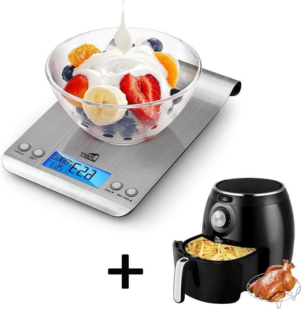 Uten Large Air Fryer 5.8QT Bundle with Uten Digital Kitchen Foods Scale