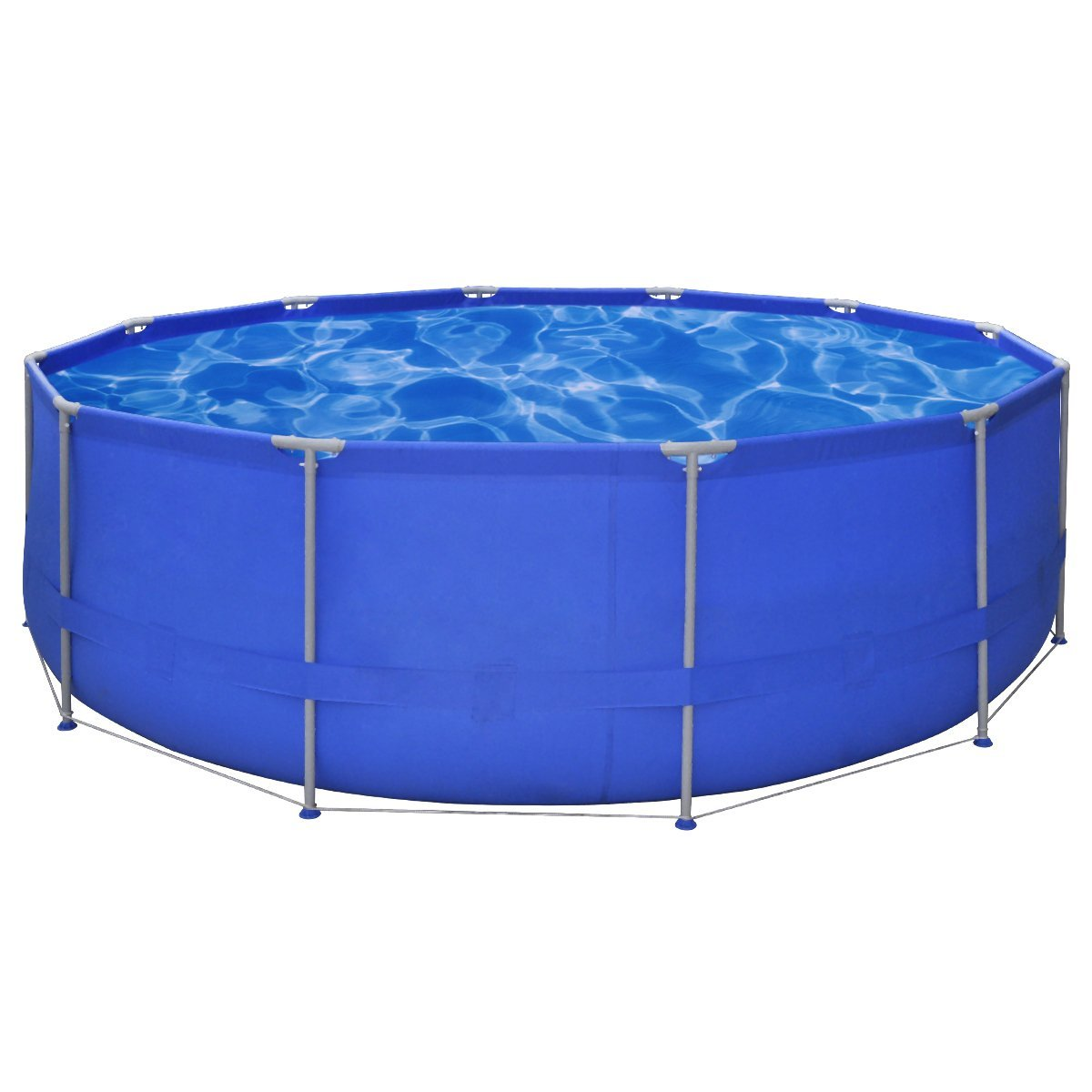 vidaXL Above Ground Swimming Pool Steel Frame Round 367x122cm Outdoor Spa