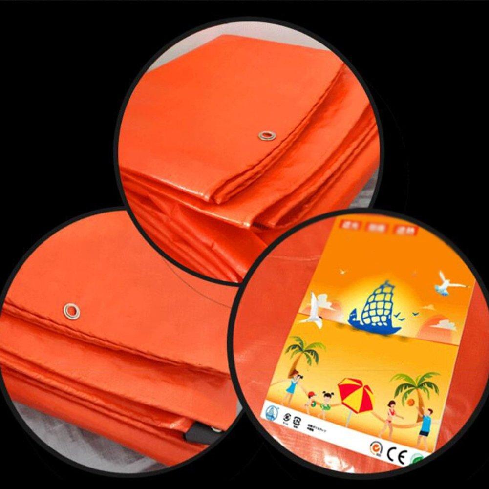 DYFYMXOutdoor Hochtemperatur Ausrüstung Plane, regendichte Sonnenschutzplane, LKW Plane Holzschutz Hochtemperatur DYFYMXOutdoor Anti-Aging, Orange @ 190793