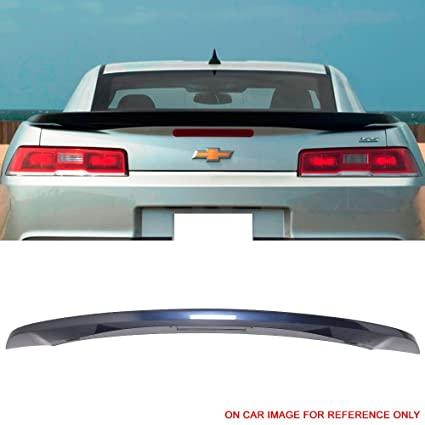 Pre-painted Trunk Spoiler Fits 2014-2015 Chevy Camaro   OE Factory Style  Low Blade Style Painted Old Blue Eyes Metallic #WA410Y ABS Rear Wing Tail