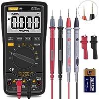 Digital Multimeter, TRMS 6000 Counts Volt Meter with Battery Alligator Clips Test Leads AC/DC Voltage/Account,Voltage…