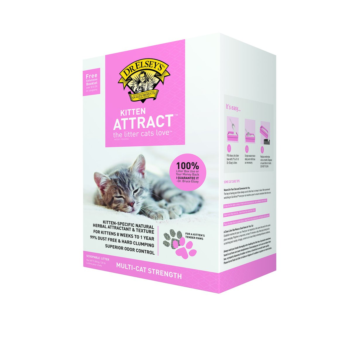 Precious Cat Dr. Elsey's Kitten Attract Scoopable Cat Litter, 20 lbs. 003015